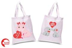 Happy Valentine clipart, Jungle animals clipart, graphics illustrations AMB-596 Product Image 2