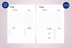 Undated daily planner's sheets. Printable A5 pages Product Image 2