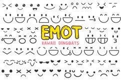 Emot Kawaii dingbat font Product Image 1