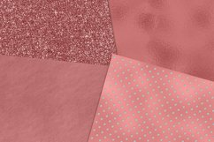 Rose Gold Foil and Glitter Textures Digital Paper Product Image 5
