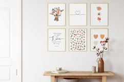 Set of 6 flower prints, Digital love posters, Birthday gift Product Image 5