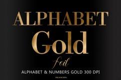 Alphabet, Gold letters, gold sublimation, gold foil Product Image 1