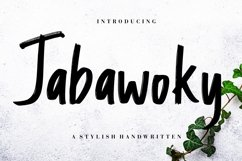 Jabawoky Stylish Handwritten Product Image 1