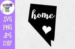 Nevada Home State with Heart - 50 States SVG Product Image 1
