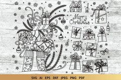 Christmas SVG Gifts Doodles Product Image 1