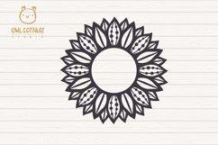 Sunflower Zentangle svg, Sunflower svg, Sunflower Monogram Product Image 3