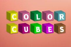 Color Cubes Font Product Image 6
