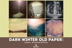 Dark Winter Old Paper part 01 Product Image 1