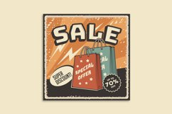 Retro Sale Discount Poster and Badge Product Image 5