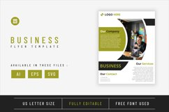 Business flyer template with green lime geometry shapes Product Image 1