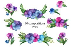 Bright Watercolor Pansies Product Image 5