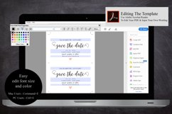 save the Date Template, Printable Save the Date Postcard Product Image 5
