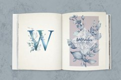 Classic Blue Watercolor Botanical Product Image 2