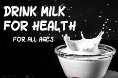 Milk Drink fun font Product Image 2