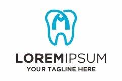 Dentist health letter M logo design Product Image 1