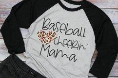 Leopard Baseball Heart - Baseball Cheerin' Mom SVG Product Image 2