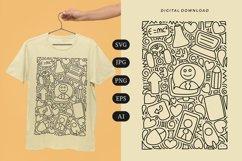 E-Learning Doodle T-shirt | SVG Product Image 1