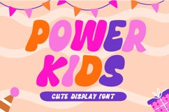 Power Kids - Cute Display Font Product Image 1