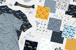 Dinosaur skeletons vector clipart, alphabet, patterns Product Image 4