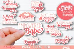 Women Equality Sticker Bundle | PNG Printable Sticker Pack Product Image 1