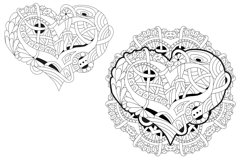 Hearts zentangle for coloring pages Product Image 2