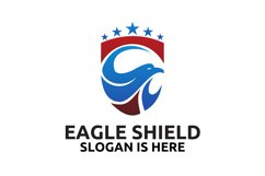 Head of the eagle on the shield logo design Product Image 2