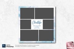 12x12 Newborn Photo Collage Template Product Image 2