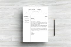 MS WORD Creative Resume Template CV Design Product Image 3