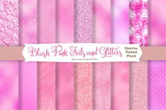 Blush Pink Foil Textures Digital Paper Product Image 1