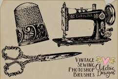 Vintage Sewing Illustrations and Photoshop Brushes Product Image 4