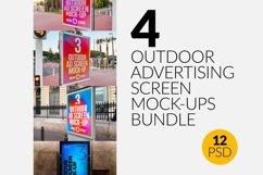 4 Outdoor Advertising Screen Mock-Ups Bundle Product Image 1
