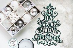 Joy Love Peace Believe Christmas svg dxf pdf cut template Product Image 3