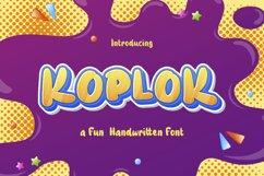 Koplok - a Fun Handwritten Font Product Image 1
