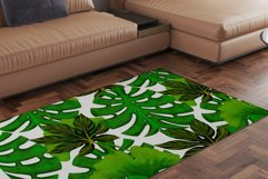 Hand drawn tropical leaves seamless pattern set Product Image 5