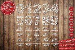 Papercut Heart Numbers Set, Numerical Monogram SVG Cut Files Product Image 5