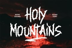 Holy Mountains - Scary Font Product Image 1