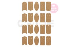20 Templates Key Ring Display Card | Keychain card| EDC006 Product Image 1