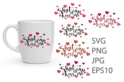 Valentines Svg, Heart SVG, Kiss Me Product Image 1