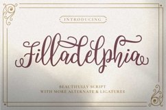 Filladelphia - Beauty Elegant Script Product Image 1