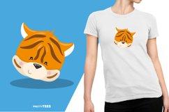 Animal Face Tiger T-Shirt Design | Sublimation T-Shirt Product Image 5