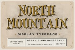 North Mountain - Display Typeface Product Image 1