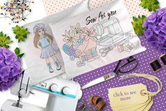 SEW FOR YOU Color Vector Illustration Set Product Image 3