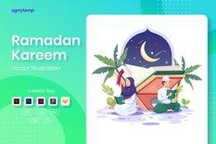 Ramadan Kareem concept flat Illustration Product Image 1