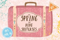Font spring and suitscases Product Image 1