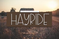 Hayride - A Handwritten Font Product Image 1