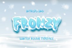 Fronzy - Winter Rough Typeface Product Image 1