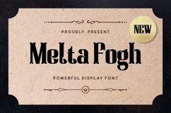 Melta Fogh - Powerful Display Font Product Image 1