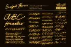 Night Light Neon Font - Script Product Image 4