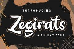 Zegirats - Quirky Font Product Image 1
