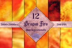 Dragon Fire Backgrounds - 12 Image Textures Set Product Image 1